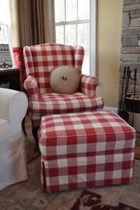Red Gingham Sofa  TheSofa