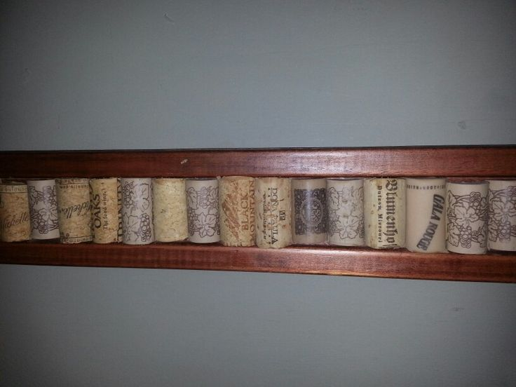 Wine cork chair rail   Home Ideas  Pinterest  Wine