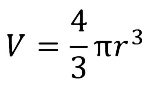Formula for Volume of a Sphere was found by Archimedes