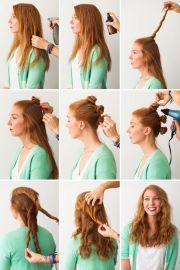 hair tutorials curly