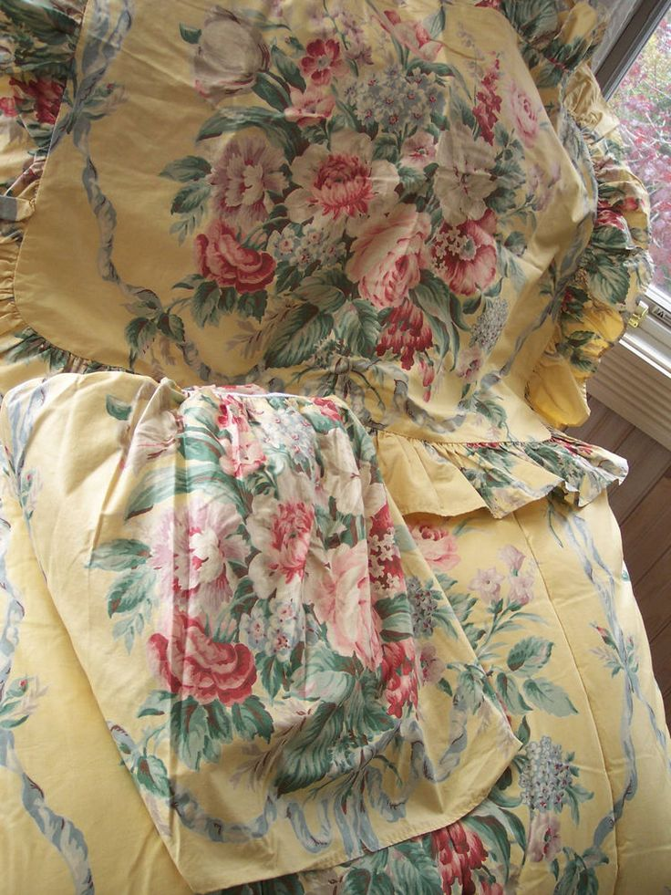 Rare vintage ralph lauren evelyn yellow floral chintz