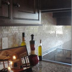 Penny Tile Backsplash Kitchen And Bath Cabinets 17 Best Images About Bamboo Glass Tiles On Pinterest ...