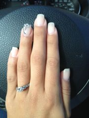 wedding nails with sparkles. #wedding