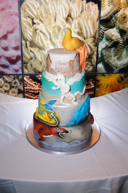 Our Magic The Gatheringthemed wedding cake Not only beautiful but delicious  Sweet