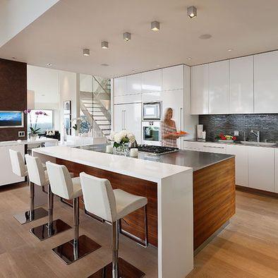 contemporary kitchen island design 17 Best ideas about Modern Kitchen Design on Pinterest | Contemporary modern kitchens, Modern