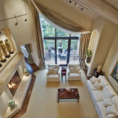 living room drapery ideas furniture cleveland 17 best images about angled window coverings on pinterest ...