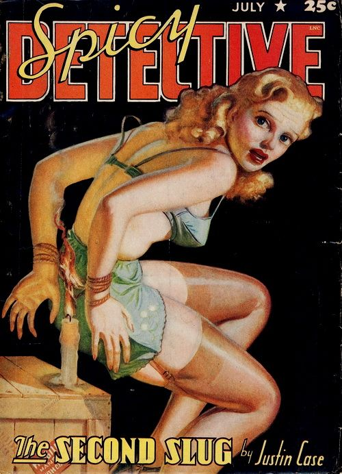Spicy Detective Stories July 41  Pinup Magazine Covers   Pinterest  Caves Suits and Style