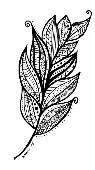 17 Best images about Feathers + Leaves Coloring Pages for