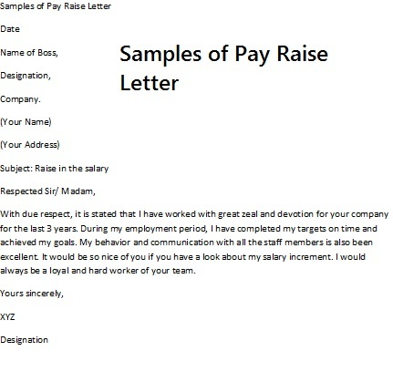 PAY RISE REQUEST LETTER  Requesting a pay raise requires careful preparation before making the