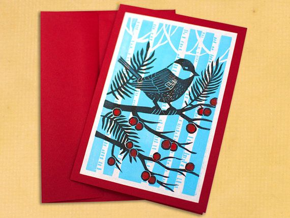 24 Best Images About Xmas Block Prints On Pinterest