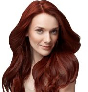 mia with esalon red hair. hair