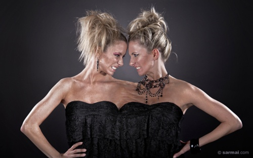 Lvia  Emese Nagy conjoined twin models  I hope neither one is a bitch lol  stuff