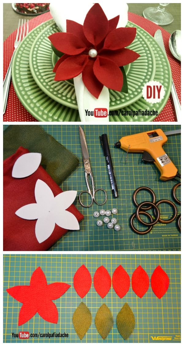 1000 Ideas About Christmas Napkin Rings On Pinterest
