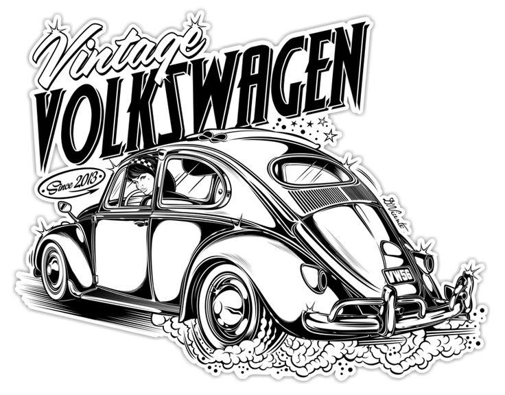 513 best ideas about VW Beetle Drawings on Pinterest