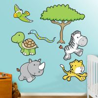 Realistic Forest Animals Wall Decals - Bing images