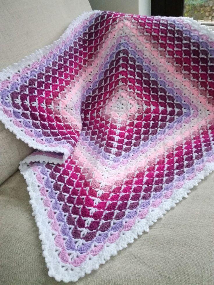 17 Best ideas about Crochet Shell Blanket on Pinterest