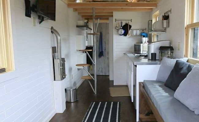New England Tiny House Interior 2 Interesting Stairs