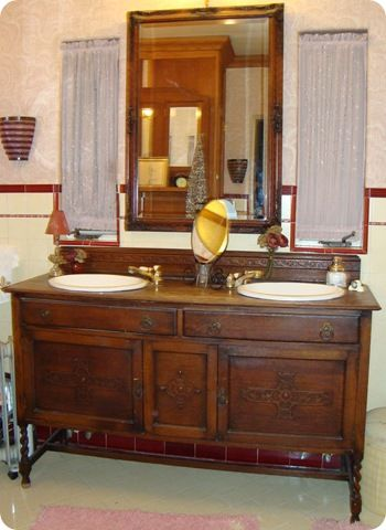 1000 ideas about Antique Bathroom Vanities on Pinterest