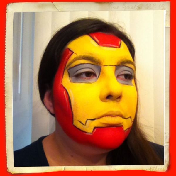Iron Man face painting Face Paintings by Kiona