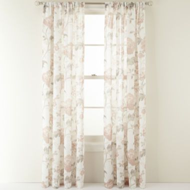 MarthaWindow Faded Floral RodPocket Sheer Panel found at