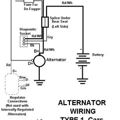 Wiring Diagram For Vw Beach Buggy 1 Phase Motor Starter Alternator | 411 Amps Volts Switch N Breaker Or Electricity Misc Pinterest