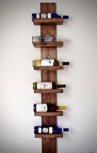Rustic Wine Rack, Vertical Wine Rack, Rustic Modern Wine ...