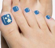 ideas blue pedicure