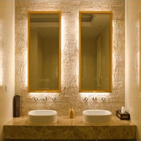 Backlit vanity mirrors  Colorful living  Pinterest  Be cool Vanity mirrors and Feelings