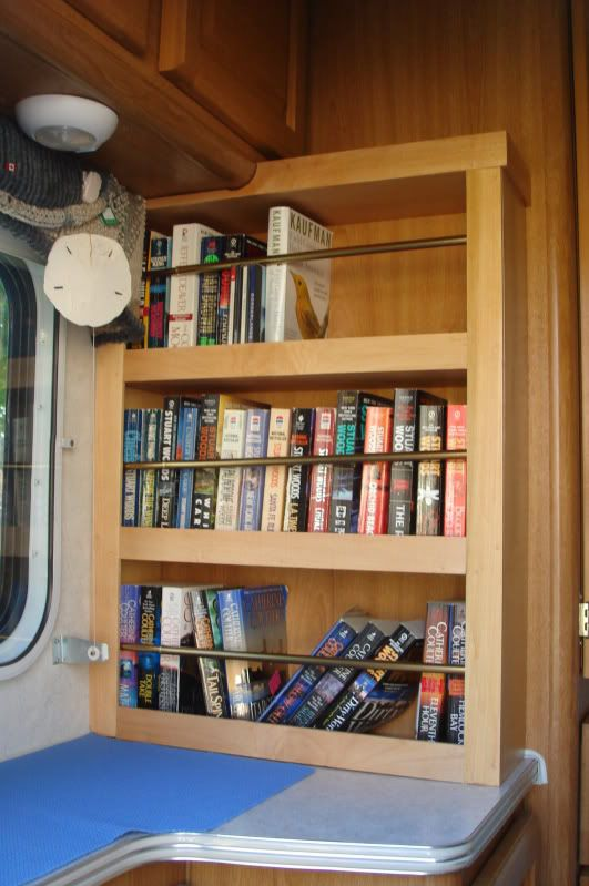 rv with bookcase  Creative ways to decorate your RV
