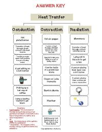 Heat Transfer Worksheet. Worksheets. Kristawiltbank Free