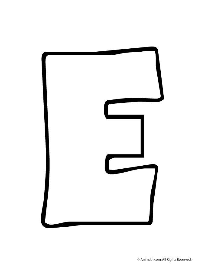 Printable Bubble Letters Bubble Letter E
