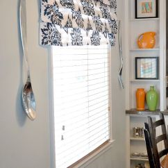 Kitchen Curtains At Target Remodeling St Louis Stenciled Drapes | Faux Roman Shades, Shades And No Sew