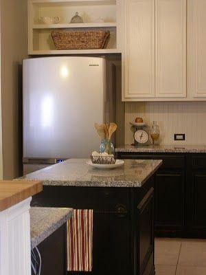 kitchen cupboard organization automatic paper towel dispenser for open shelves above fridge   ideas pinterest ...