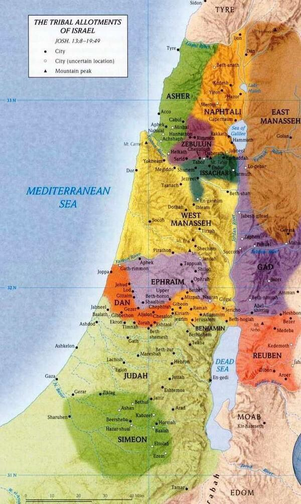 Map of Israel3000 years ago Ancient Pinterest Maps