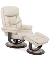 Aby Leather Recliner Chair & Ottoman | Recliner chairs ...
