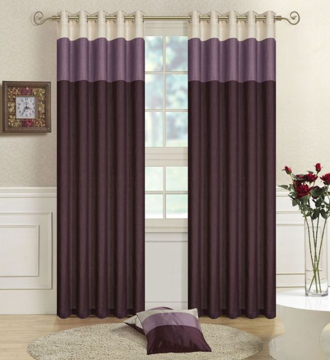 15 Beautiful Bedroom Designs With Purple Curtain Exquisite Two Tone Gl Vase And Round Beige Rug Also Wood Laminate Floor In