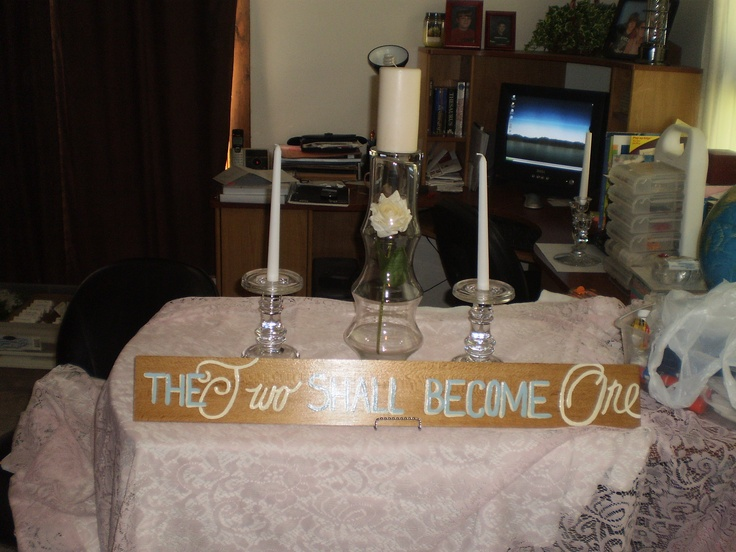 My Unity Candle Table setup  Wedding ideas  Pinterest
