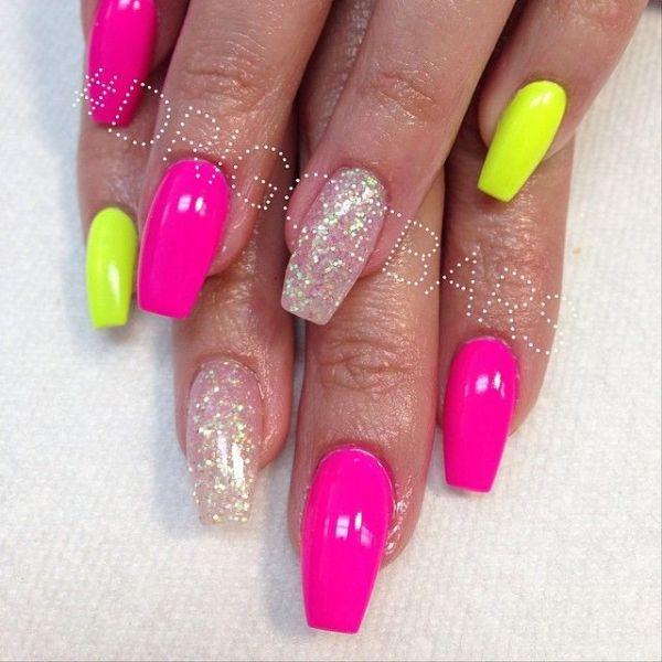 25 best ideas about Neon nails on Pinterest Awesome