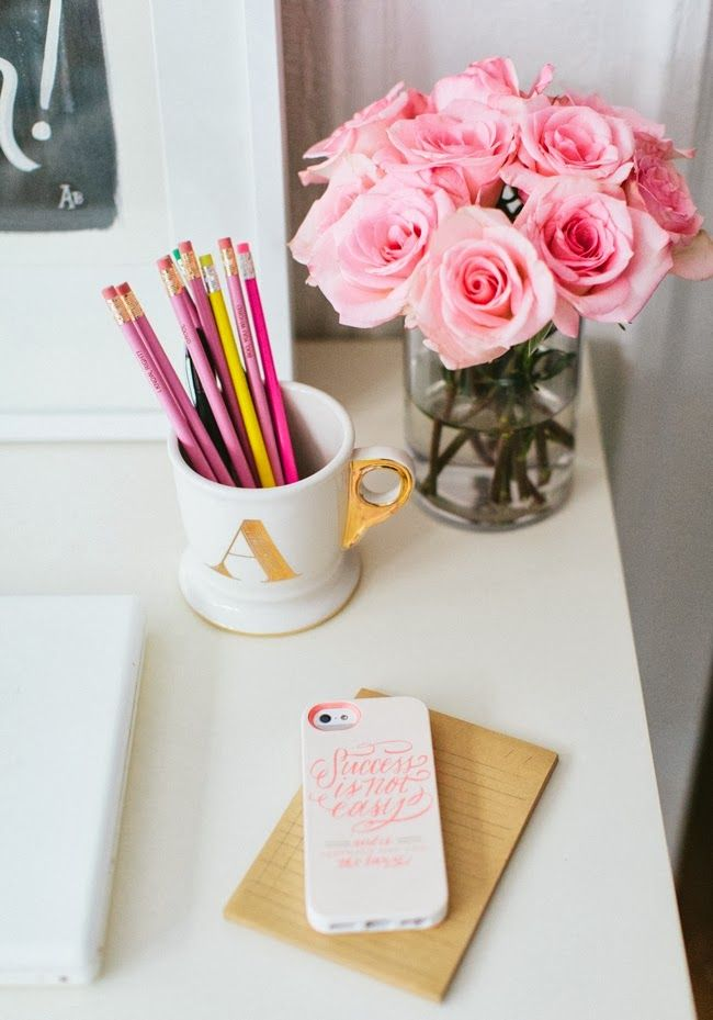 Cute Notepad Wallpaper Girly Desktop Home Tour From Mix And Chic Office