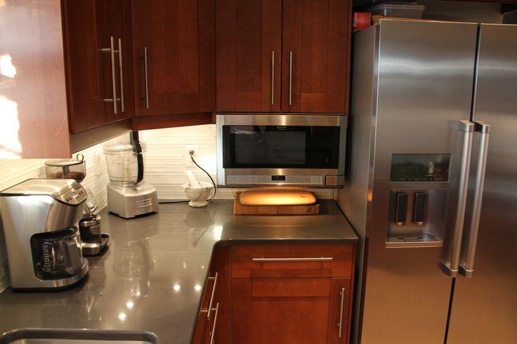 Finished Kitchen Ikea Adel Medium Brown Caesarstone