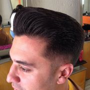 pompadour with flat crown
