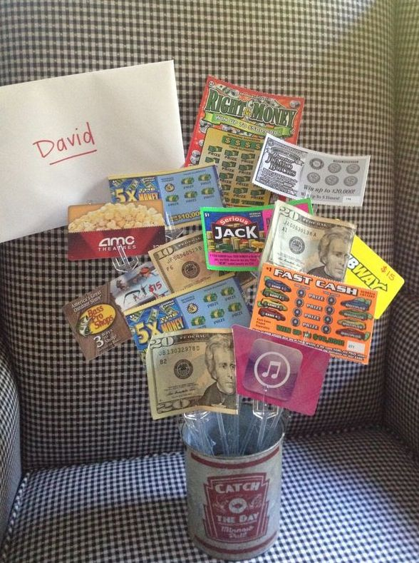 18th Birthday Bouquet With Gift Cards Scratchers Candy