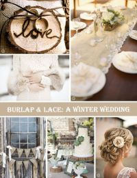 17 Best images about BURLAP & LACE WEDDING DECOR IDEAS on
