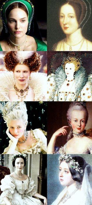 Strong women in history~  Anne Boleyn-The Other Boleyn Girl  Elizabeth I-Elizabeth: The Golden Age  Marie Antoinette-Marie