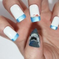 17 Best images about shark nails on Pinterest | Nail art ...