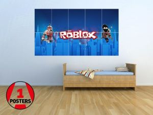 roblox bedroom boy wall party poster boys giant gamer teen bedrooms rooms paste games play