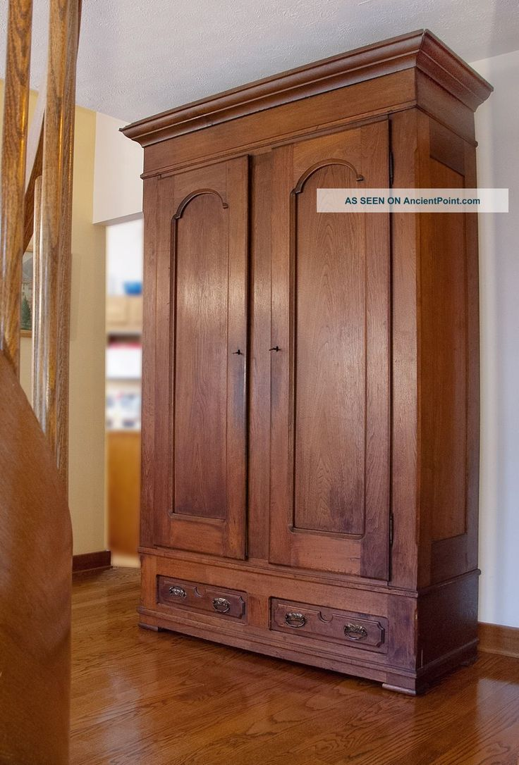 Antique Walnut Knock  Down Armoire 19001950 photo  House Ideas  Pinterest  Armoires