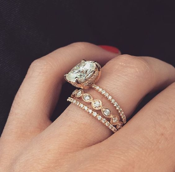 17 Best ideas about Double Wedding Bands on Pinterest  Gold wedding rings Skinny wedding band