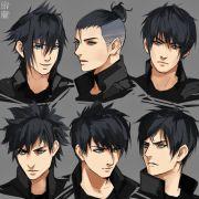 anime drawing boy hair