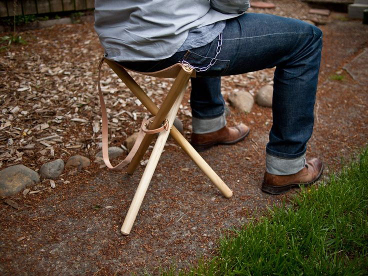 Camp in Style with a DIY Folding Tripod Stool  Diy